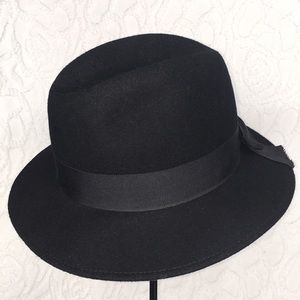 Vintage Black Tally Ho Wool Hat